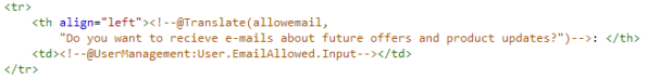 Adding a template tag to change user e-mail consent